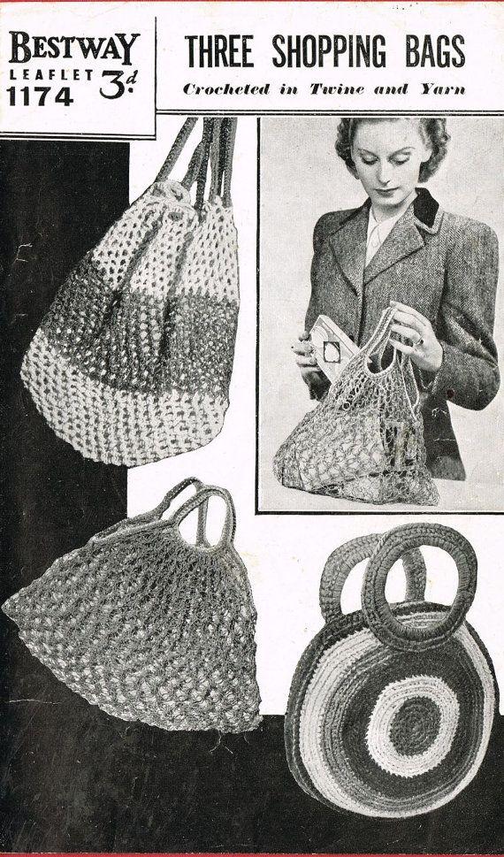 Bestway 1174 ladies crochet string bags vintage by Ellisadine, £1.15 ...