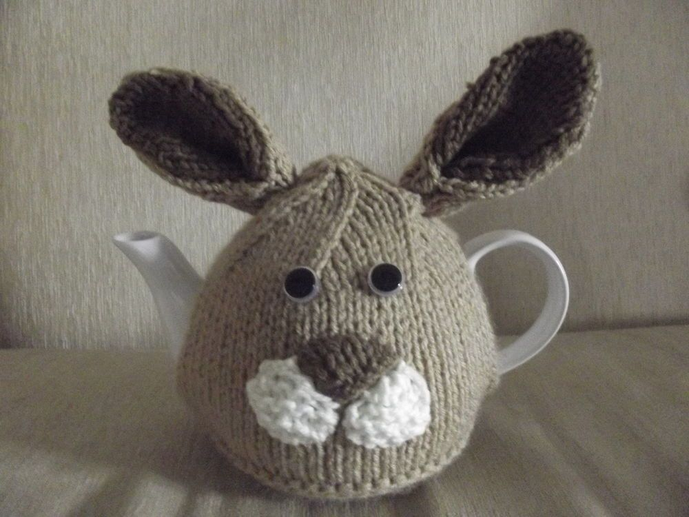 Hand Knitted Easter Bunnyrabbit Tea Cosy Hand Knitted As Seen On