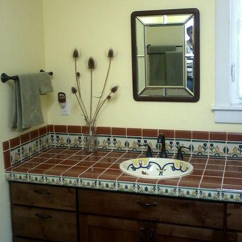 Mexican Tile Bathroom Countertop Ideas