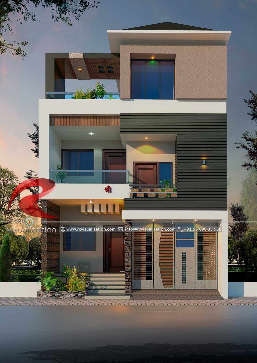 Best Ziy Sir Image By Rafik Sheikh Narrow House Designs 400 x 300