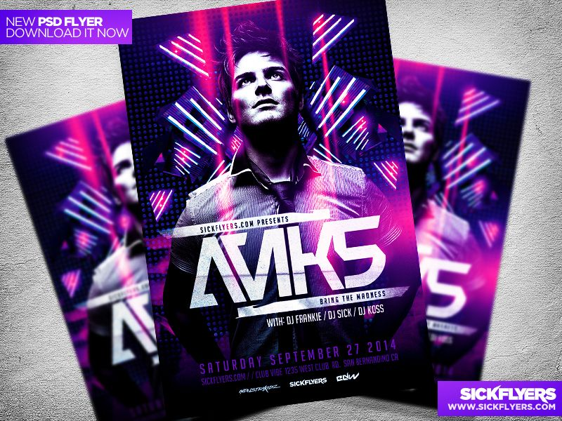 Electro Dance Music Concert Flyer Template Concert flyer, Flyer - concert flyer