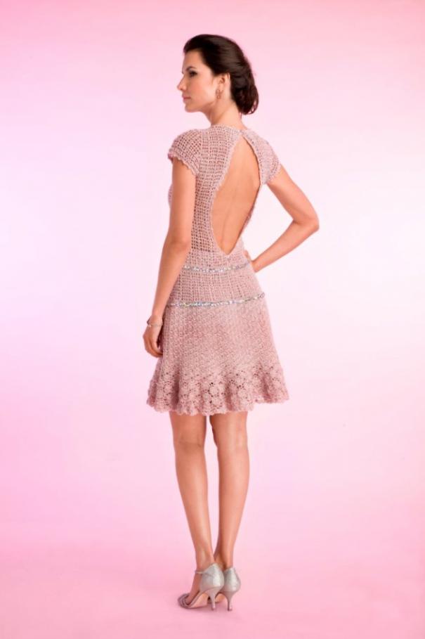 Coleção Giovana Dias - Costas do Vestido Gigi | Crochet | Pinterest ...