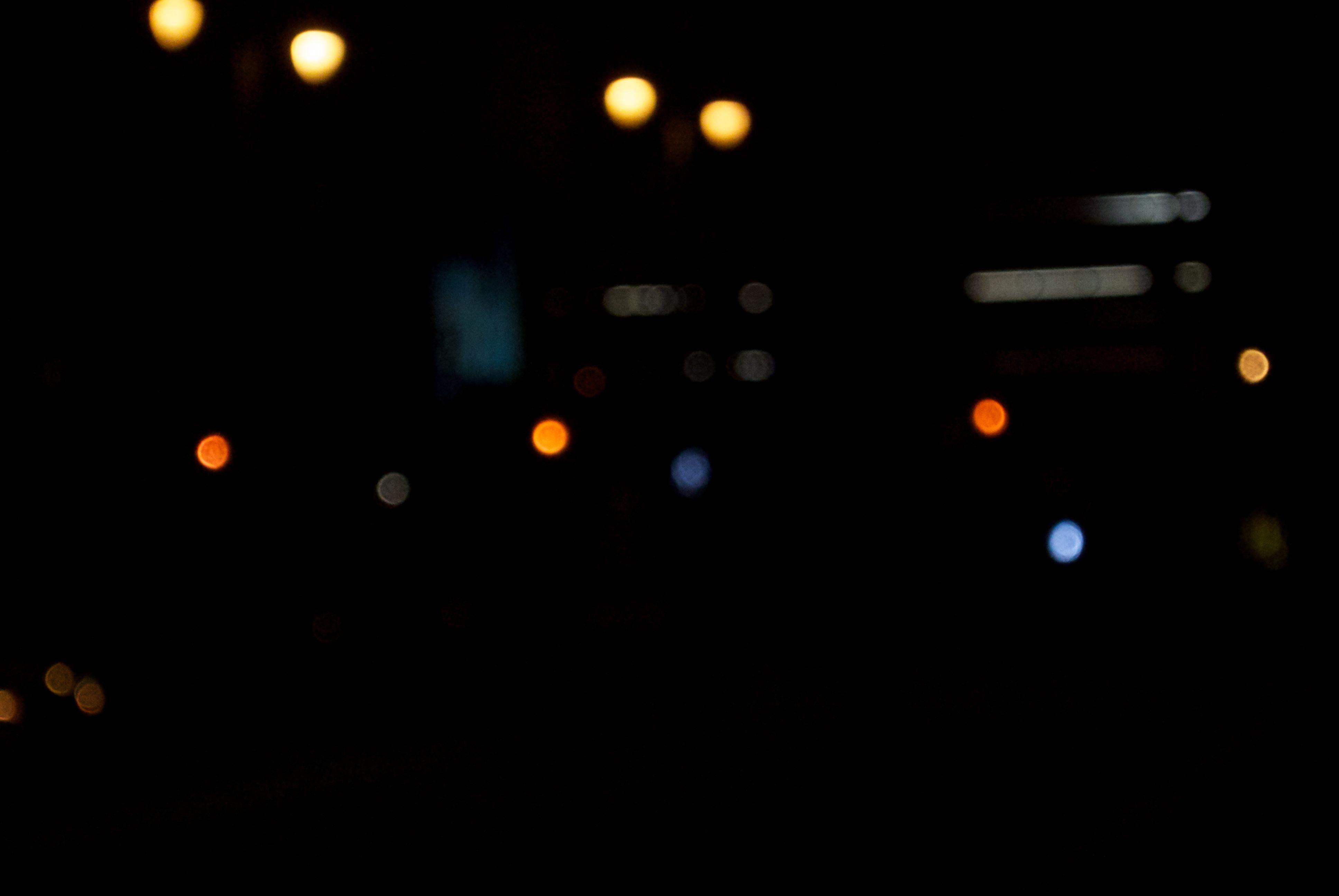 lights, night, street, blur