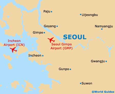 Incheon International Airport Seoul Map South Korea Pinterest