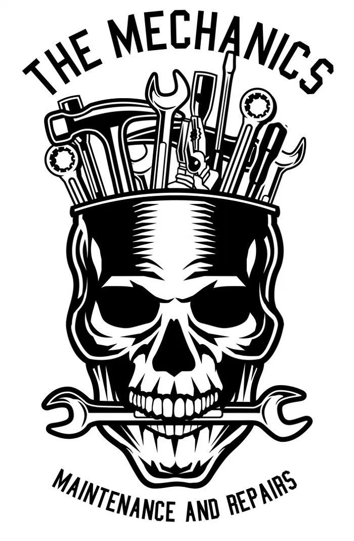 mechanic skull Logo keren