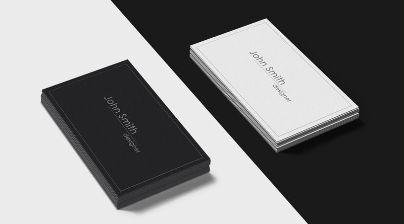 black and white business cards mockup psd psd card templates