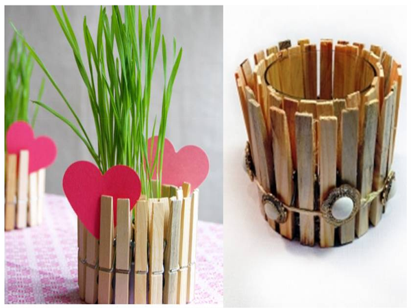 Clothespin flower pot you can do it yourself find fun art clothespin flower pot you can do it yourself find fun art projects to do solutioingenieria Choice Image