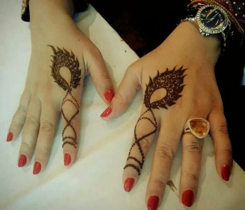 Mehndi Designs For Fingers S Dailymotion : Simple index finger henna heena pinterest
