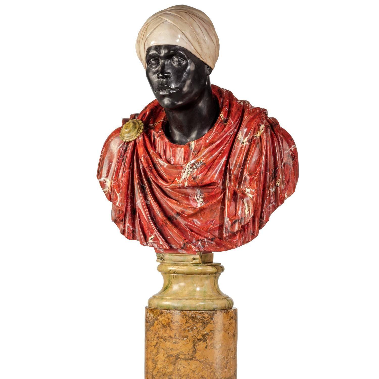 Bust Of A High Ranking Roman Roman Emperor Modern Sculpture Egypt Art