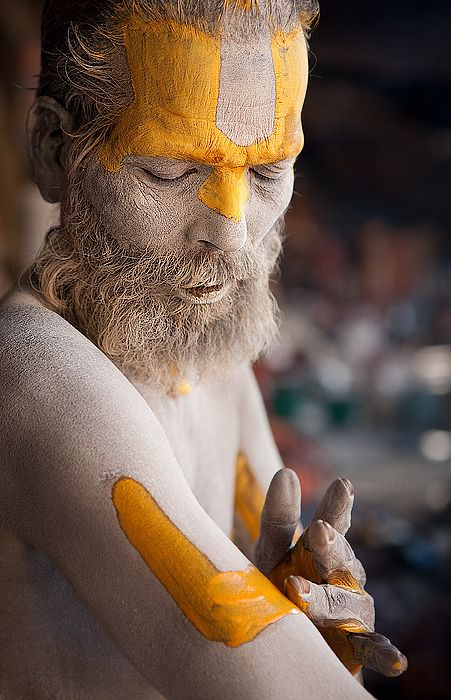 Sadhu, a holy man or wandering monk of Hinduism (by Dmitry Sumin)