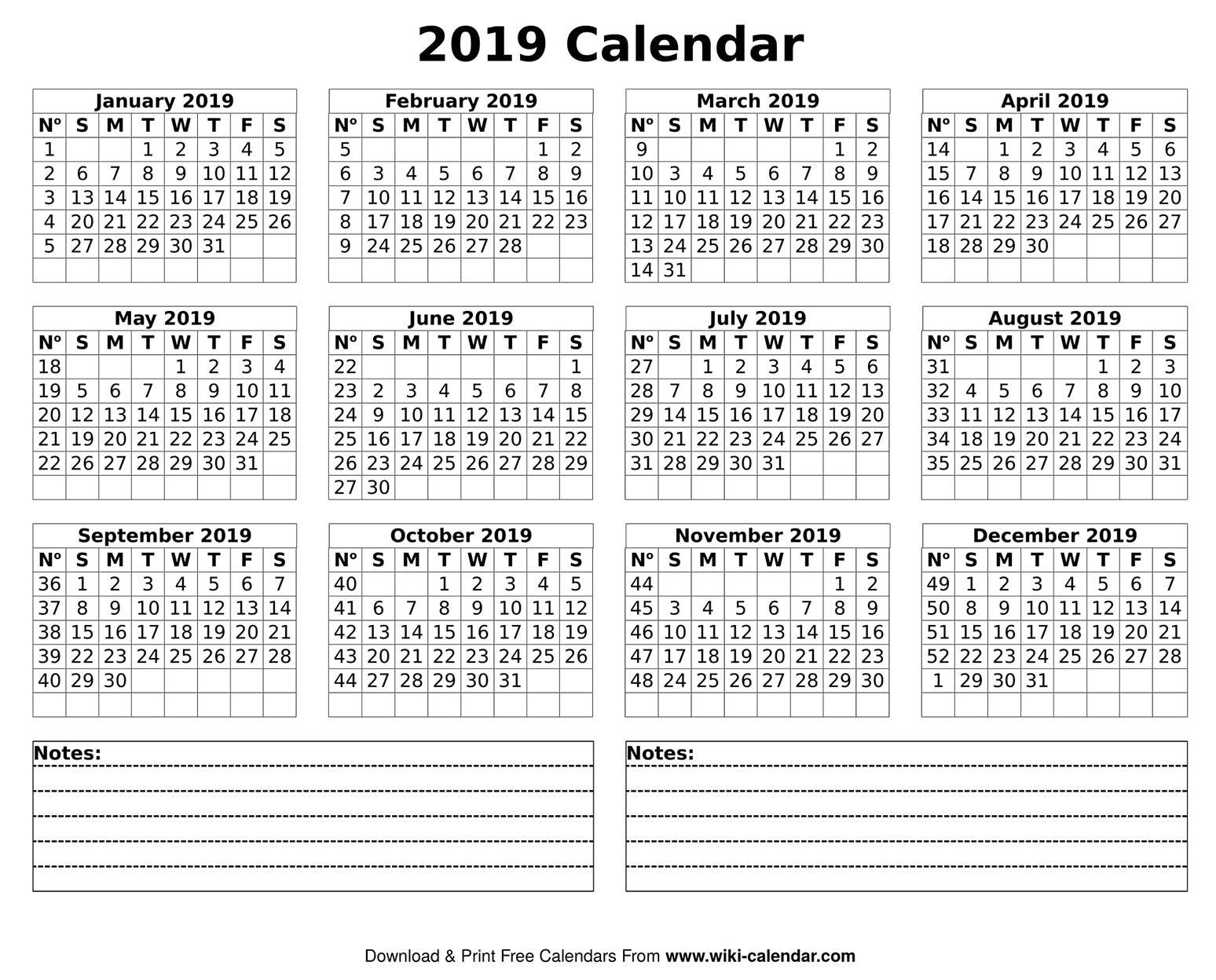 Free Printable Year 2020 Calendar Calendar Printables Printable