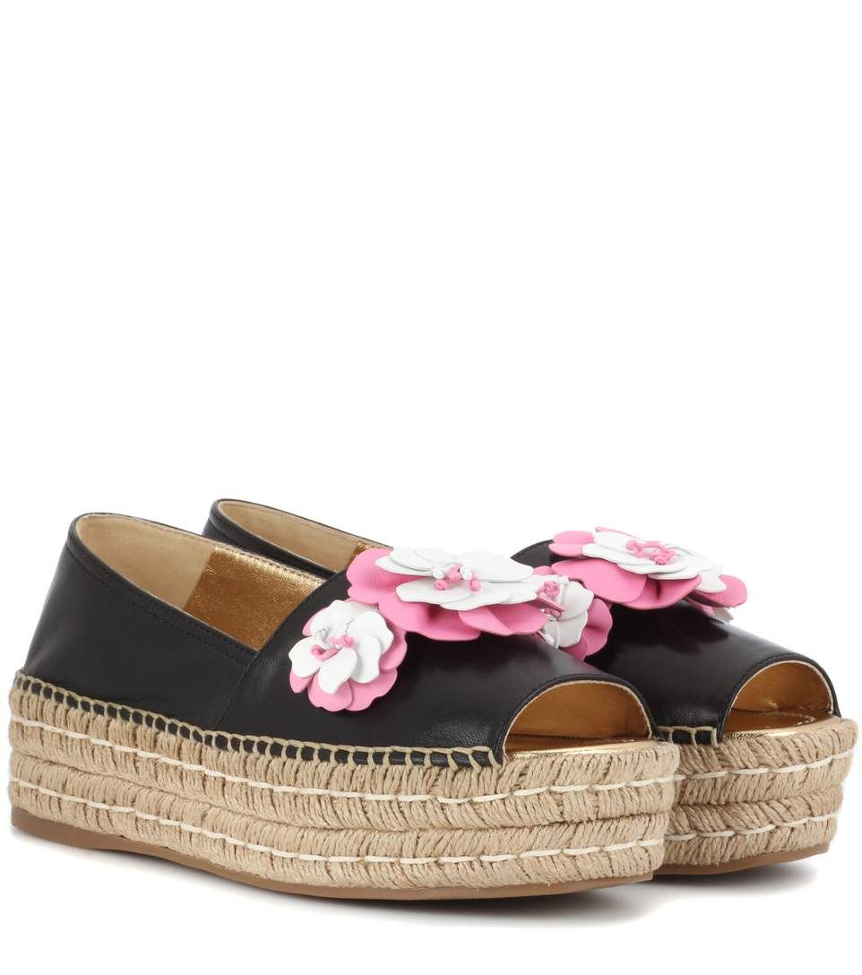 03259d637caf Shop Platform leather espadrilles presented at one of the world s leading  online stores for luxury fashion.