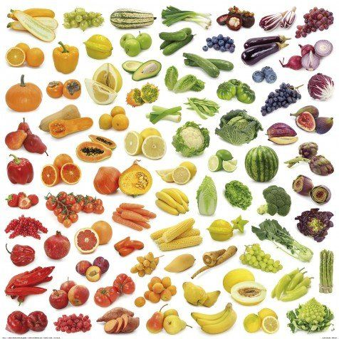 Rainbow Collection Of Fruit And Vegetables 28 X 28 Inches Squidoo Com Vegetable Charts Fruits Et Legumes Recettes Crues Alimentation