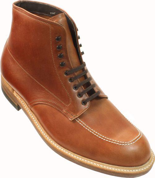 f014be2f67b Alden Men's 405 - Indy Boot High Top Blucher Workboot - Brown ...