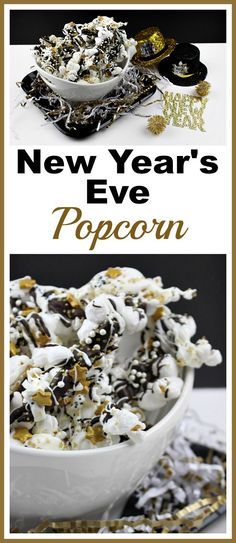 Sparkly New Year's Eve Popcorn- Quick and Easy Party Treat
