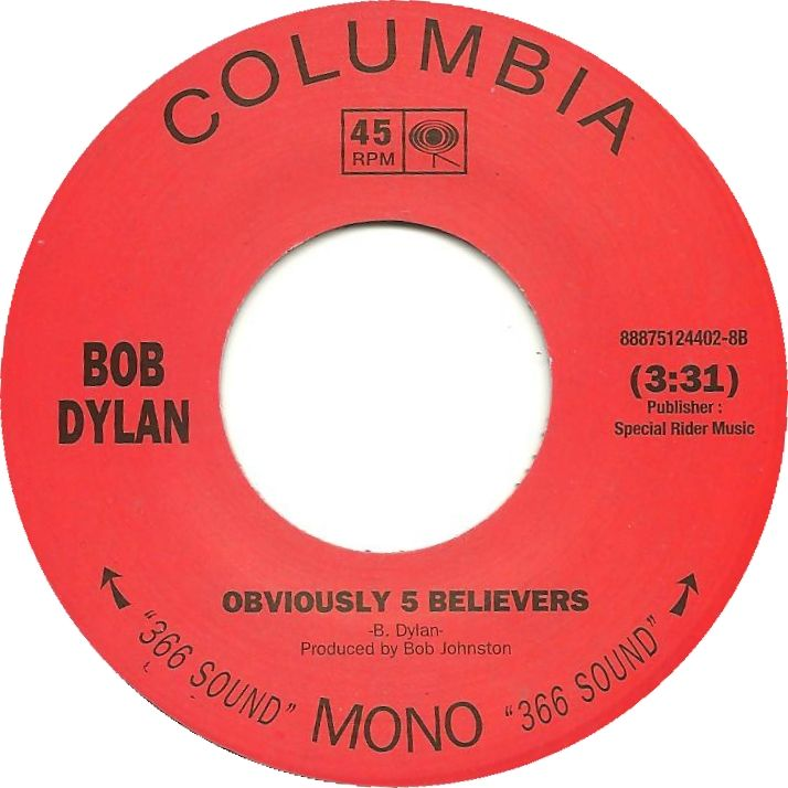 45cat Bob Dylan Just Like A Woman Obviously 5 Believers