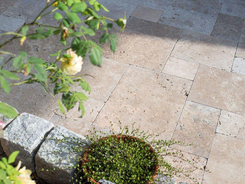 travertinplatten noce getrommelt terrace pinterest. Black Bedroom Furniture Sets. Home Design Ideas