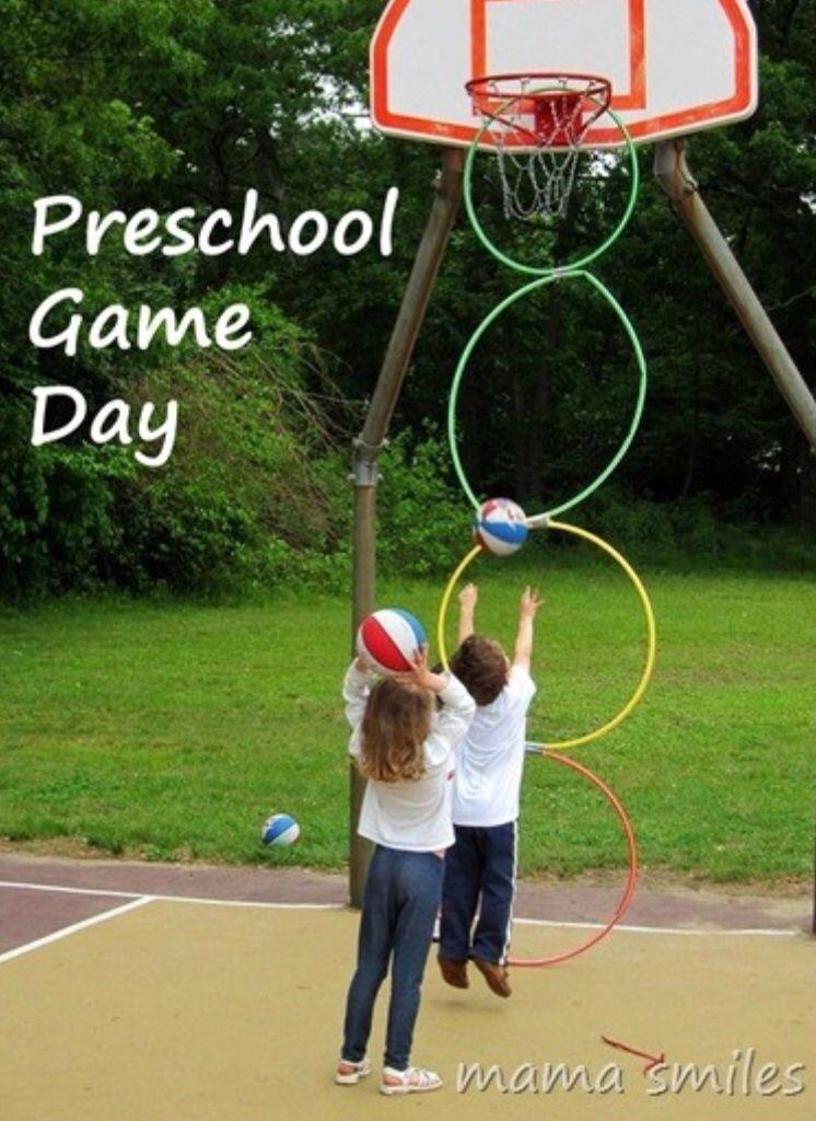 Preschool Gross Motor Outdoor Play Basketball Hoop