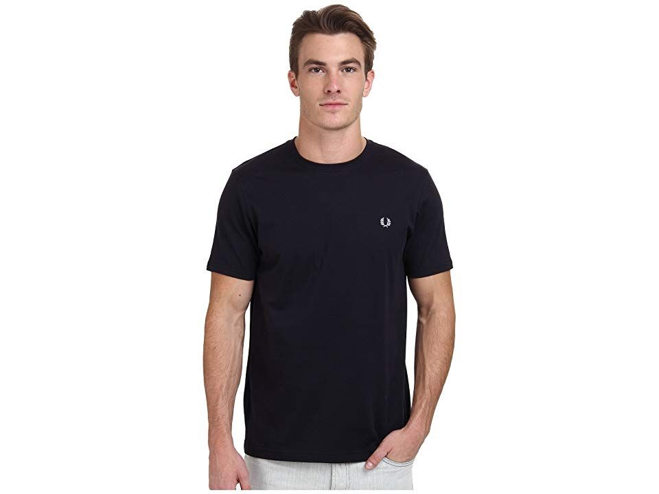 1ee27143 Fred Perry Crew Neck T-Shirt (Navy) Men's T Shirt. These Fred Perry ...