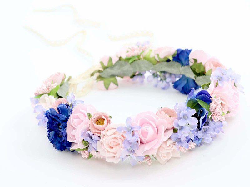 Kwiatowy Wianek Na Glowe Fabric Flowers Crafts Wedding