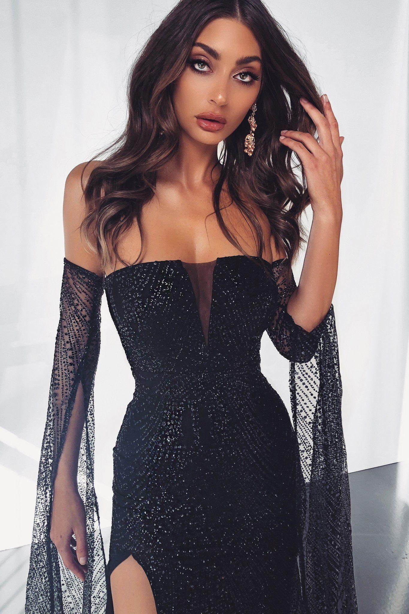Jocelina - Black  Vestidos incríveis, Vestidos, Vestidos estilosos