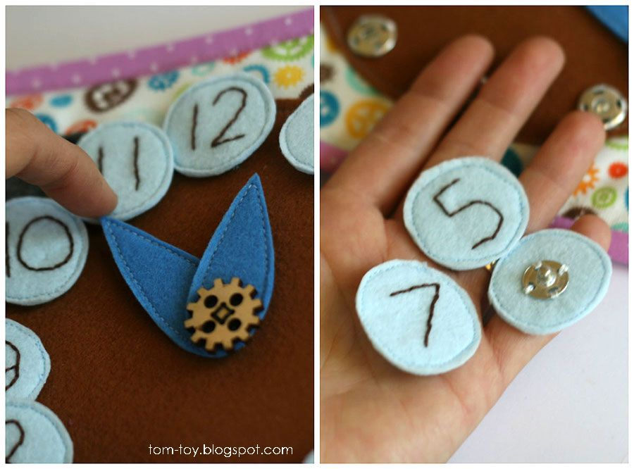 Life Hacks Quiet Book For Caitlyn Busy Gift Children Clock Page