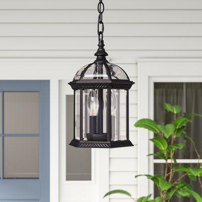 Three Posts Affric 3 Bulb 13 75 H Outdoor Hanging Lantern