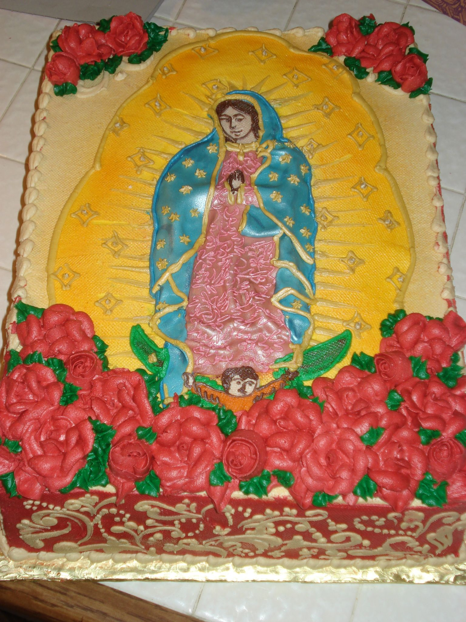 The Virgin Of Guadelupevirgin Mary Cakehappy Birthday