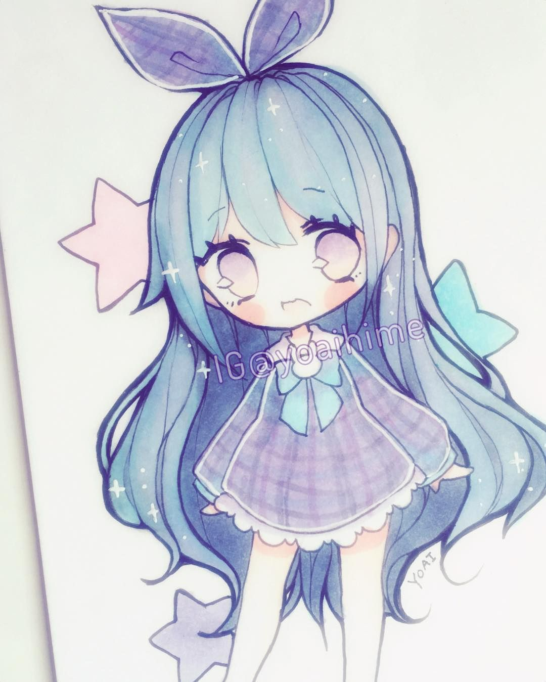 pin rach art anime chibi