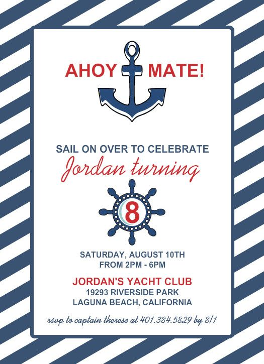 Nautical Invitation Template | upfashiony.com
