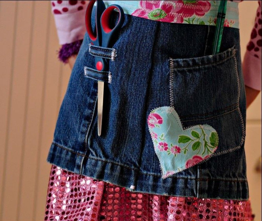 Blue apron how to recycle - 50 Easy And Useful Craft Ideas For Using Old Denim Jeans Crafts To Recycle