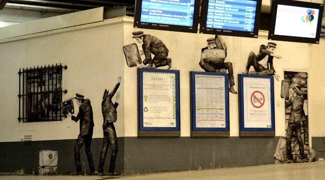 by Levalet, Paris train station, 5/15 (LP)