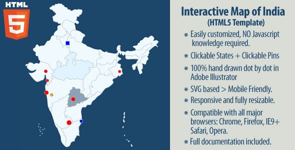 Interactive map of india interactive map buy interactive map of india by on codecanyon interactive map of india this is an interactive resizable vector map template of india built in code an sciox Choice Image