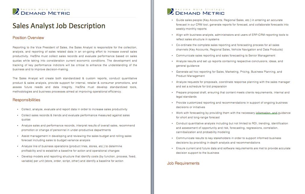 Operations Mgr Job Description  Job Descriptions