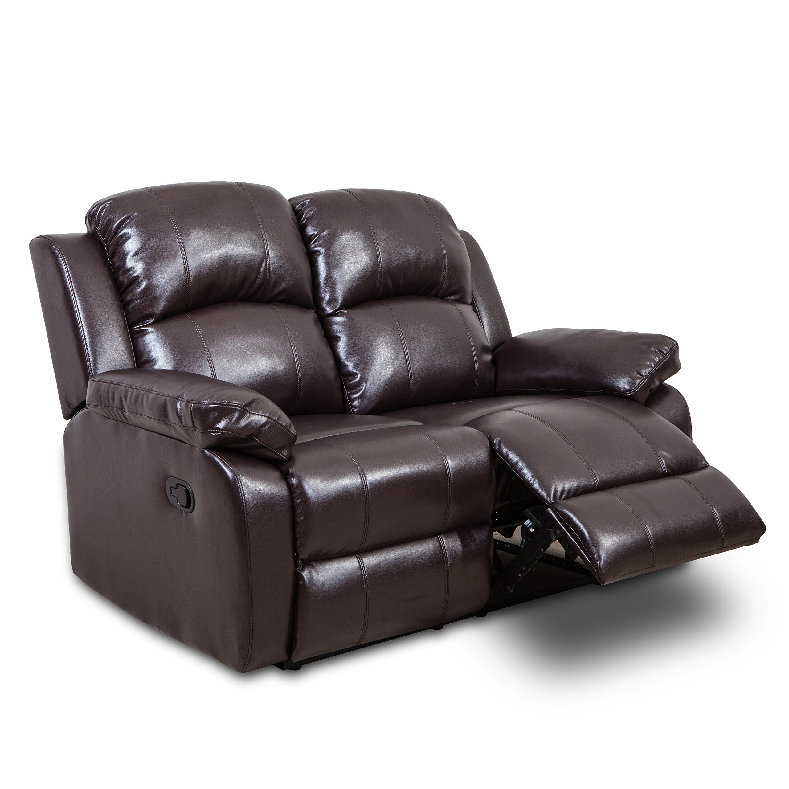 Best Juntoso 3 Pieces Manual Recliner Sofa Sets Air Leather For Living Room Lounge Reclining Couch 640 x 480