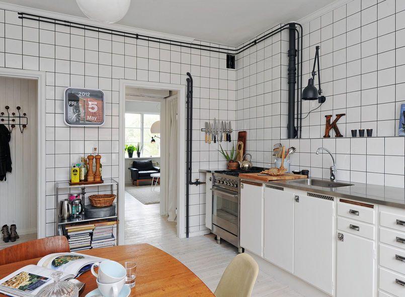 Kuchnia Z Bialymi Plytkami 15x15 Kitchen Interior Kitchen Design Kitchen Inspirations