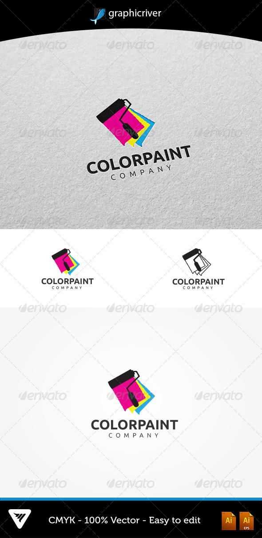 ColorPaint Logo #GraphicRiver Item Details: • Color CMYK • Fully