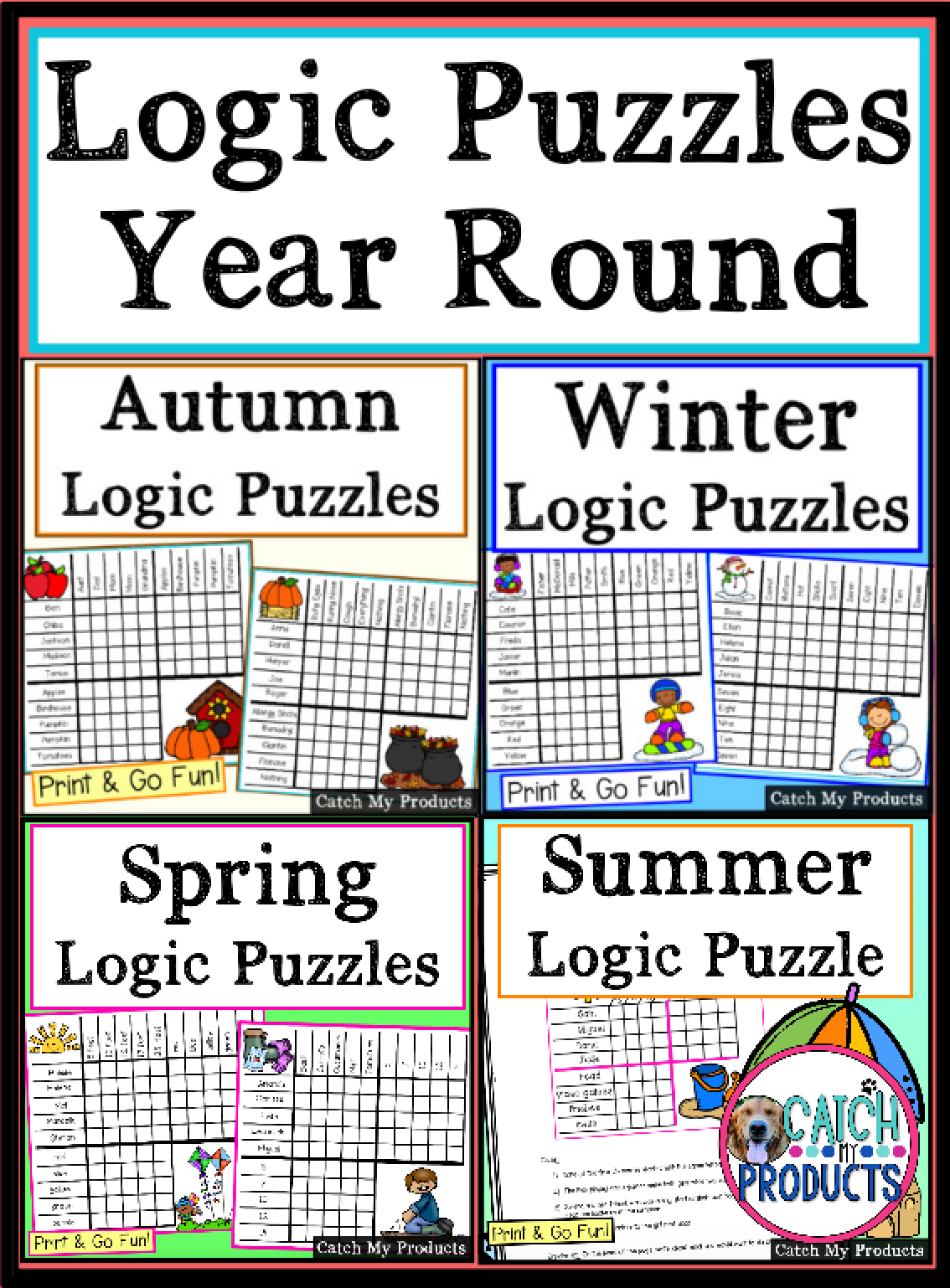 Logic Puzzles Worksheets Or Distance Learning Virtual