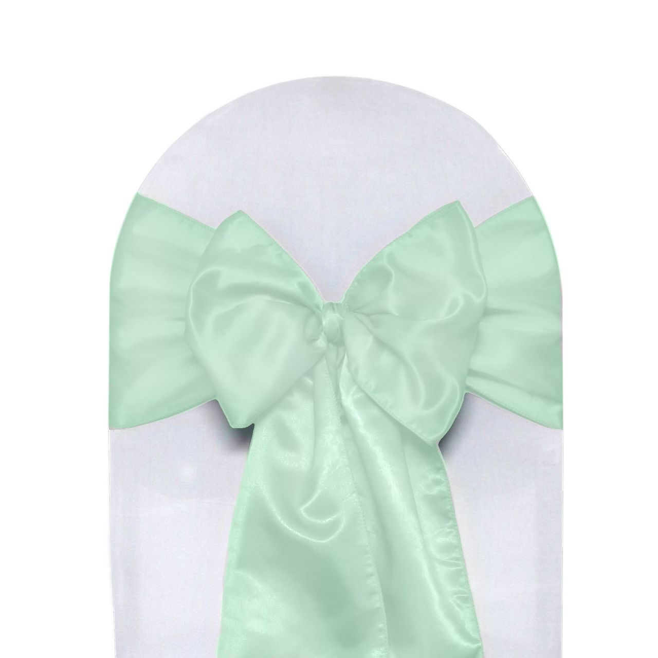 10 Pack Satin Sashes Mint Green Satin Sash Wedding Chair Sashes Chair Covers Wedding