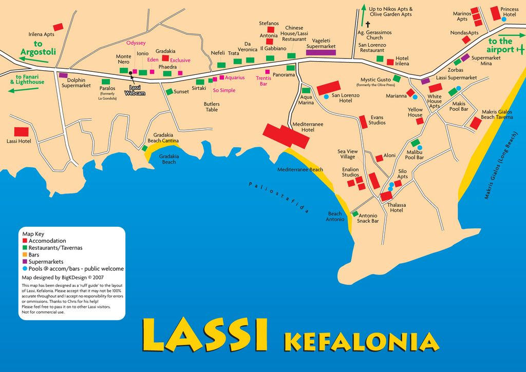 Map for anyone staying in Lassi Places Ive seen Pinterest