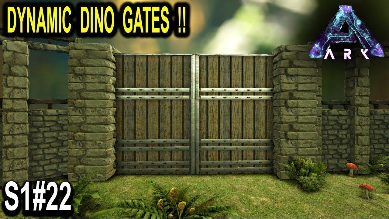 Ark Dynamic Dino Gate New Defense Wall Ark Survival Evolved