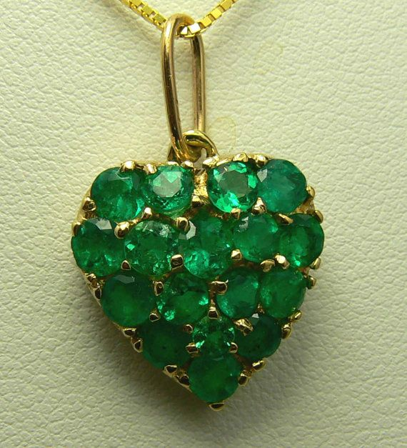.30tcw Romantic Colombian Emerald Pave Heart  JR Colombian Emeralds JR Colombian Emeralds