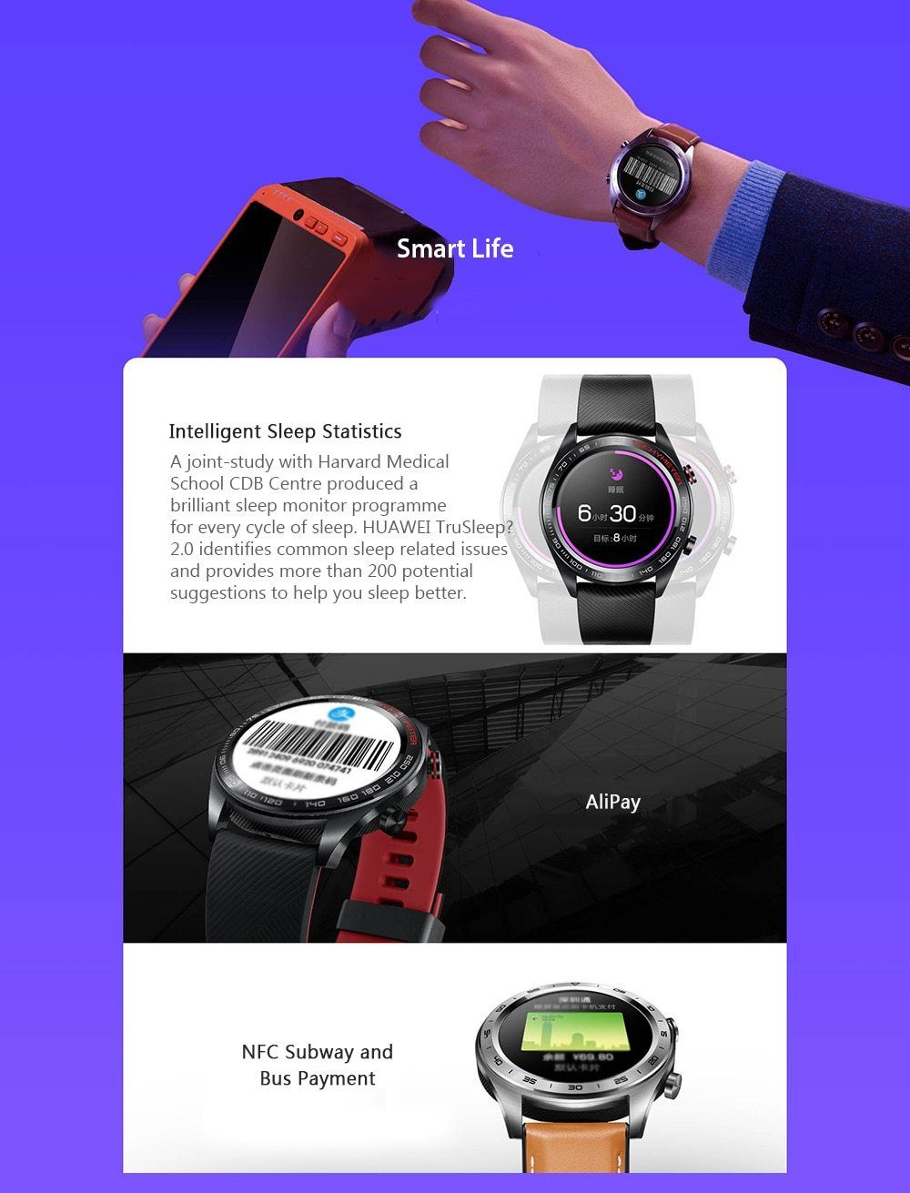 HUAWEI HONOR Magic Glory Smart Watch in 2019 | https://sopabestdeals