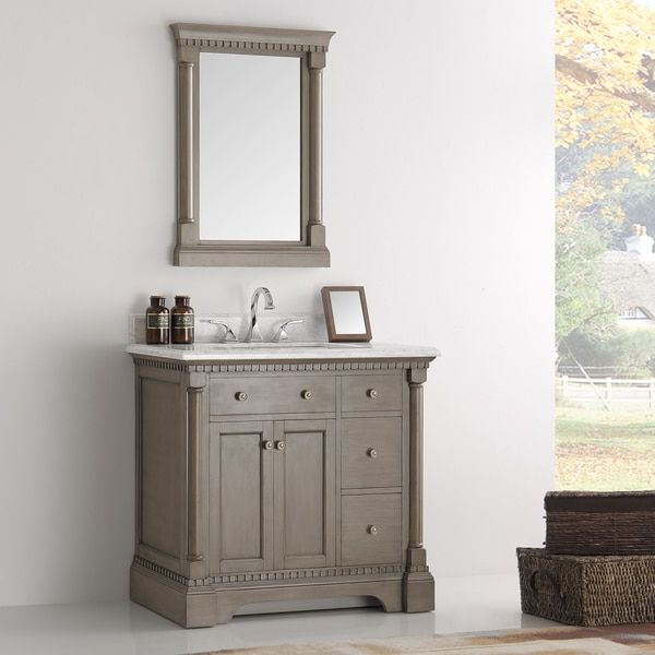Photo Album Gallery Fresca Kingston Antique Silver inch Traditional Bathroom Vanity with Mirror