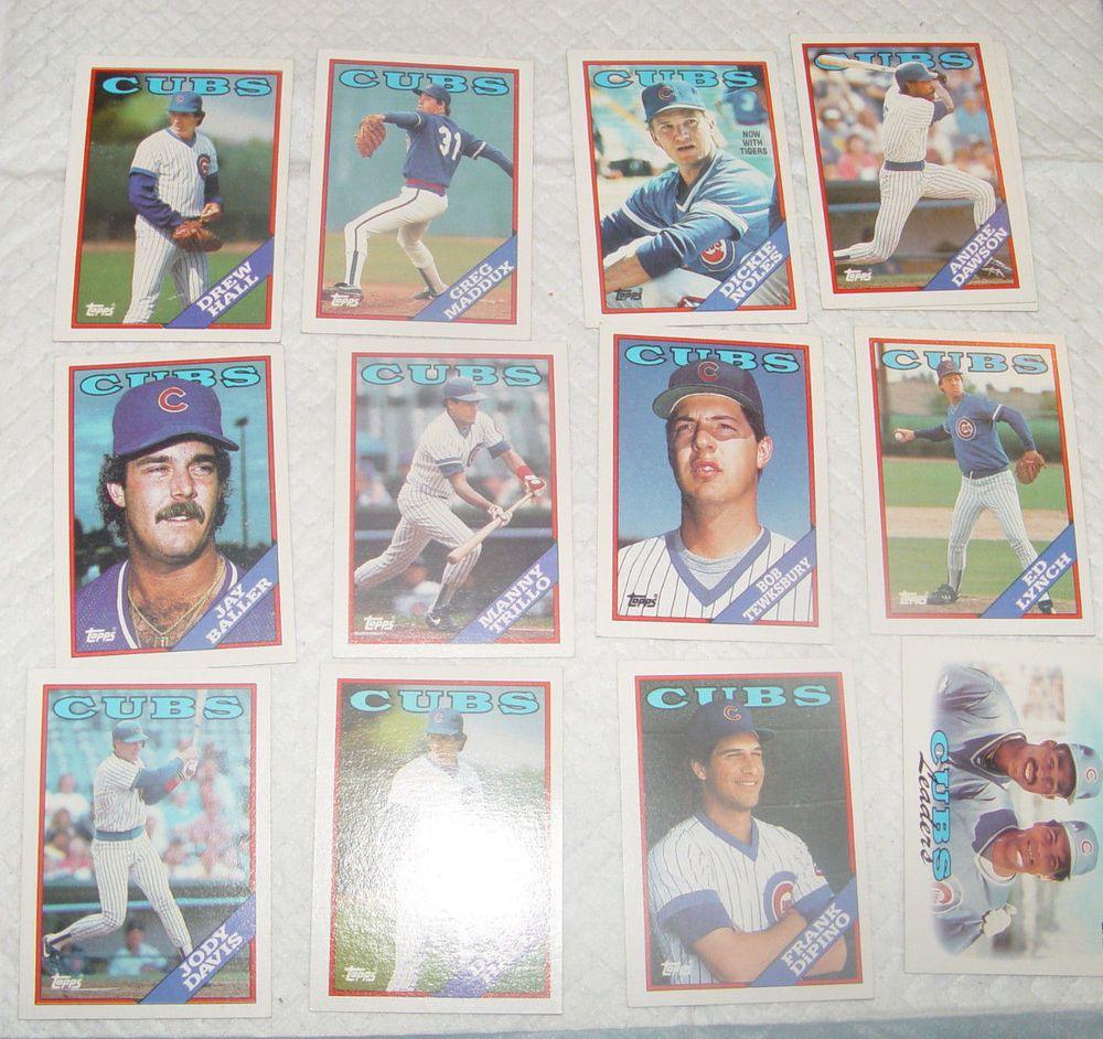 topps baseball cards value 1988