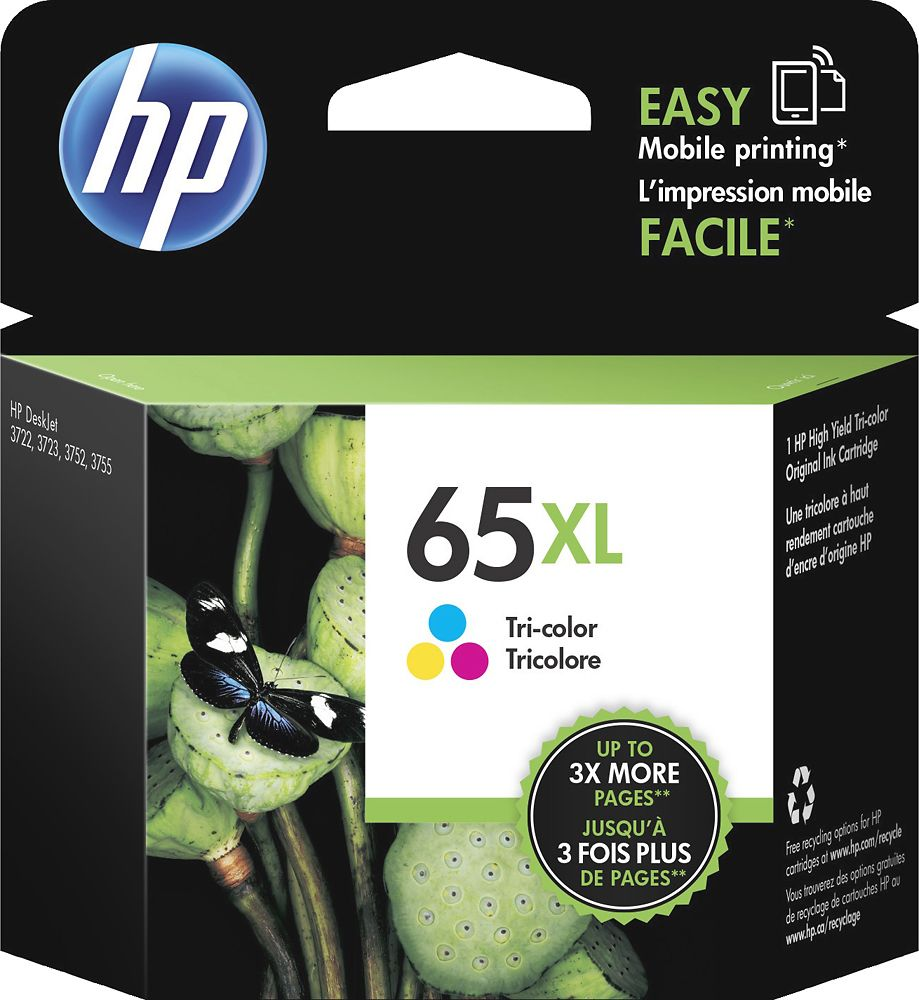 Hp 65xl High Yield Ink Cartridge Multicolor N9k03an 140 With
