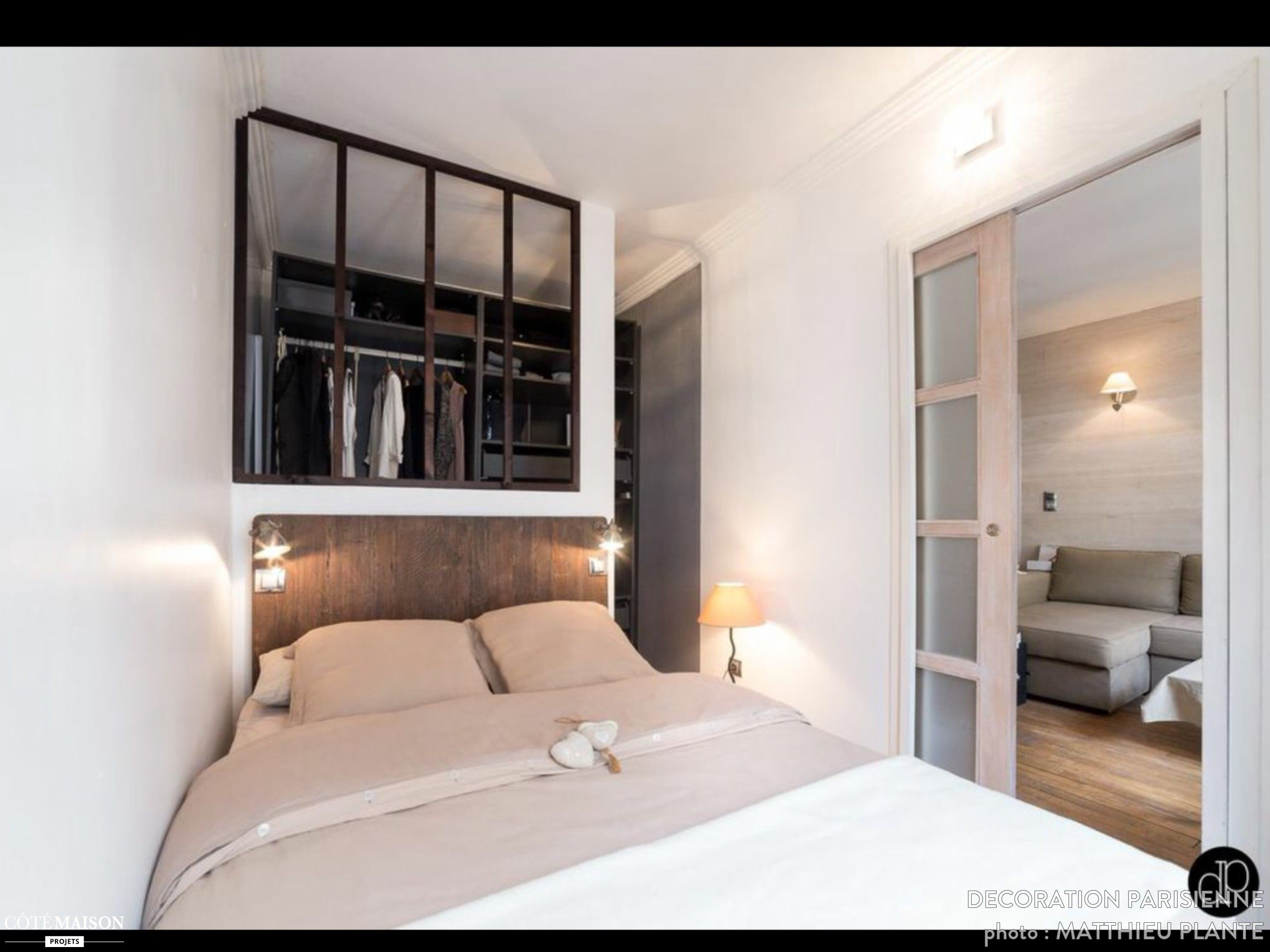 Appartement 25 m2 paris ix d coration parisienne c t for Idee dressing petit espace