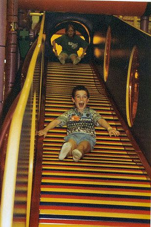 "Whenever you went down the slide at Discovery Zone and didn't get your hair stuck.  21 Gratifying Childhood Moments That Made You Go ""Ahhhhh"""