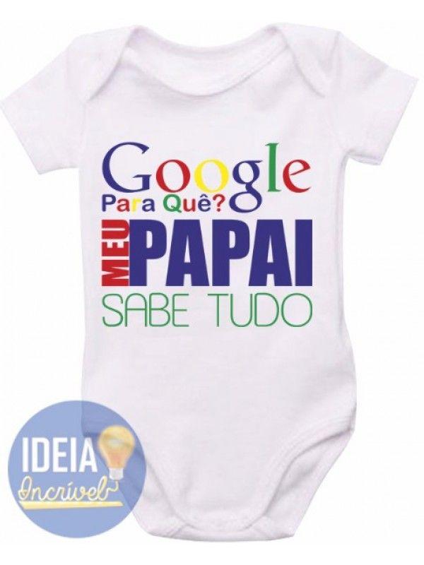 Body Infantil - Papai Sabe Tudo Enxoval Menino 611e095f862