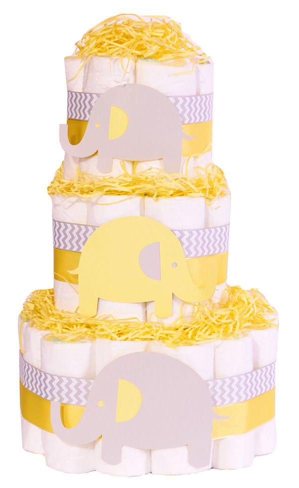 Elephant baby shower nappy cake unisex yellow grey gift elephant baby shower nappy cake unisex yellow grey gift elephant themed baby shower nappy cake unisex yellow and grey chevron elephant yellow grey negle Image collections